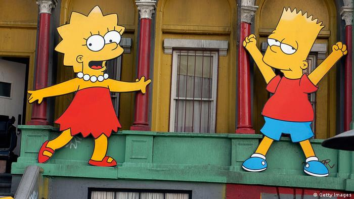 Lisa and Bart Simpson, Copyright: Getty images