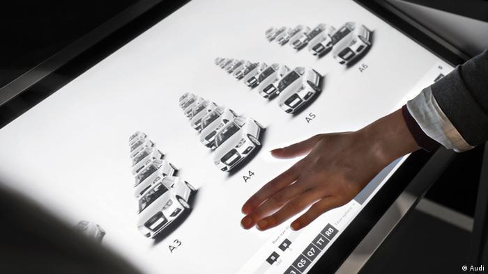 Audi City showroom touchpad
