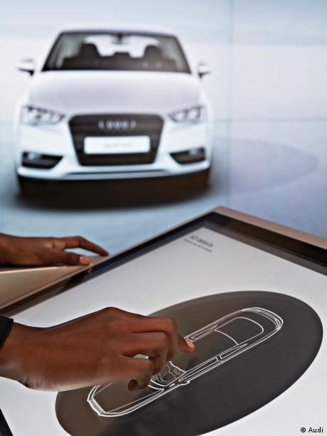 Showroom touchpad and Audi car