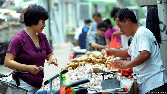 China Alltag normale Leute Menschen Markt Konsum Einkaufen