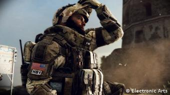 A screenshot from the game Medal of Honor depicting a soldier