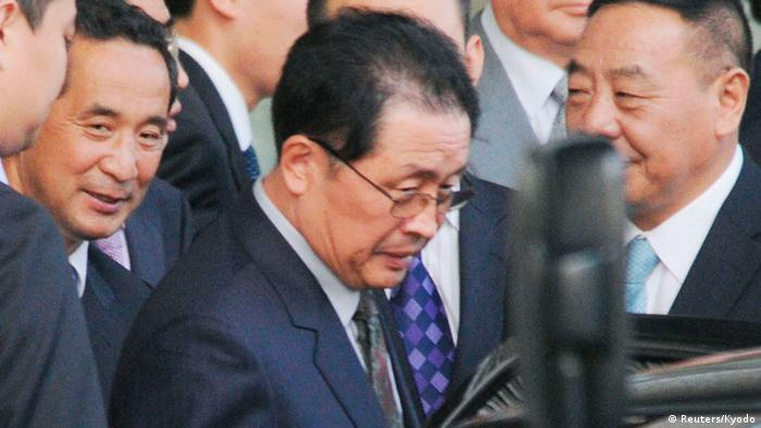 North Korean politician Jang Song-thaek upon his arrival at Beijing international airport