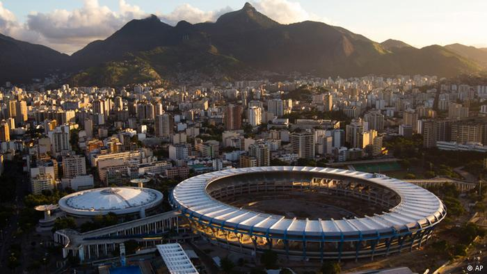 A general view of the Maracana stadium during its renovation ahead of the 2014 World Cup soccer tournament in Rio de Janeiro, Brazil, Monday, May 30, 2011. (AP Photo/Felipe Dana)