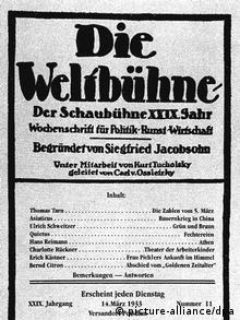 German weekly 'Die Weltbühne'