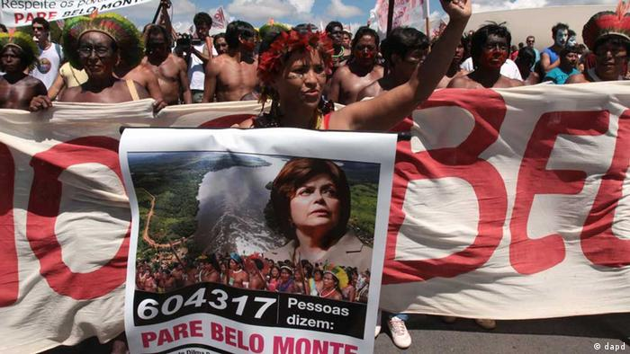 Desde que foi anunciada, usina de Belo Monte tem sido alvo de protestos por parte dos indígenas Foto - DAPD