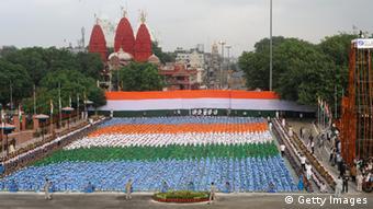 Indien Unabhängigkeit Rotes Fort Delhi