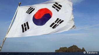 Südkorea Japan Insel Dokdo Flagge
