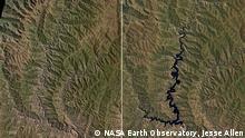 +++NASA Earth Observatory, Jesse Allen+++, linkes Bild aufgenommen 1989, rechtes BIld aufgenommen März 2001 Infos: http://earthobservatory.nasa.gov/IOTD/view.php?id=6809