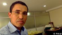 Mohamed Amgour, Doktorand, in Rabat Marokko. Copyright: privat via Abderrahmane Ammar, DW