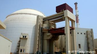 (FILES)--A picture shows the reactor building at the Russian-built Bushehr nuclear power plant in southern Iran on August 21, 2010 during a ceremony initiating the transfer of Russia-supplied fuel to the facility after more than three decades of delay. Iran's atomic chief has said a small leak in a pool beside the Bushehr reactor has delayed the start-up of the nuclear plant, the official IRNA news agency reported on October 4, 2010. AFP PHOTO/ATTA KENARE (Photo credit should read ATTA KENARE/AFP/Getty Images)