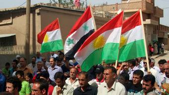 Protest by Syrian Kurds