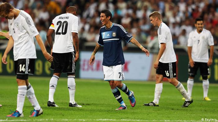 Germany's Marco Reus reacts after Argentina scored its first goal