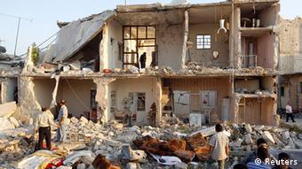 Syrien Bürgerkrieg Zerstörungen in Aleppo Luftangriff