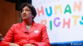 UN High Commissioner for Human Rights, Navi Pillay in New York