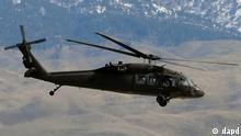 Symbolbild Afghanistan Hubschrauber Black Hawk