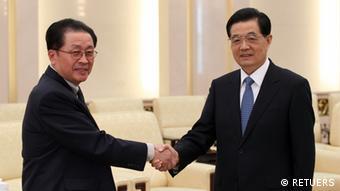 Treffen Hu Jintao Präsident China und Jang Song Thaek