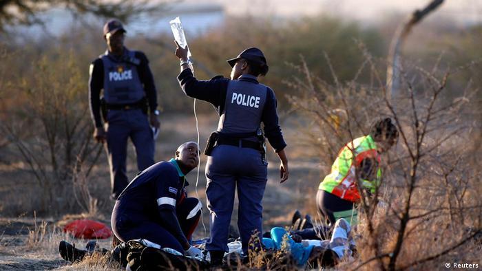 Arbeitskampf in südafrikanischer Mine Marikana