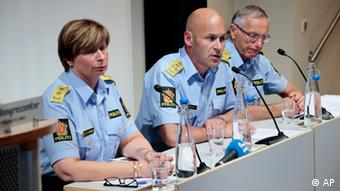 Oeystein Maeland (centre), Norwegian director of police, Sissel Hammer (left) police chief in Northern Buskerud police district, which has jurisdiction over Uoeya island, and chief of police in Oslo, Anstein Gjengedal (right) meet the press in Oslo, Monday Aug. 13, 2012. An independent commission said on Monday that Norwegian police could have prevented or interrupted the bomb and gun attacks carried out by Anders Behring Breivik last year. Breivik, 33, has admitted to the bombing of the government's headquarters in Oslo, which killed eight people and the subsequent shooting spree at a youth camp on Utoya island that left 69 dead, more than half of them teenagers. (AP Photo / Cornelius Poppe / NTB scanpix) NORWAY OUT