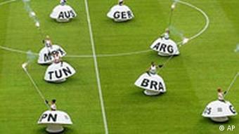 Confederations Cup 2005: Performance, die alle Nationen darstellen, 1. Spieltag