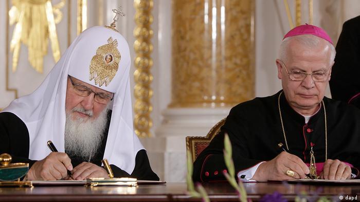 Polen Russland Kirchen Versöhnungsappell in Warschau unterzeichnet
