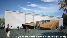 Entwurf des neuen Eingangs des Jüdischen Museums in Berlin