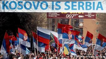Serben demonstrieren gegen unabhängiges Kosovo
