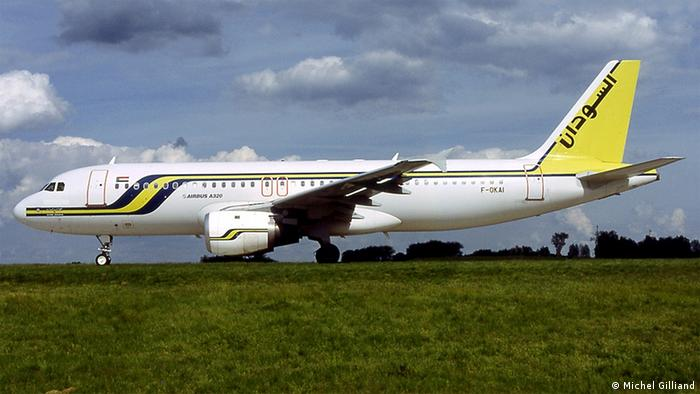 Flugzeug der Sudan Airways Airbus A320 (Foto: Free Software Foundation)