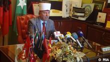 Reis ul Ulema Hadzi Sulejman Efendi Redzepi, der Leiter der Islamischen Glaubensgemeinschaft in Mazedonien. Skopje, Mazedonien, 18.08.2012 Foto: Macedonian Information Agency - MIA