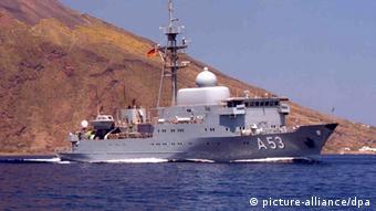 Oker A 53 ship near land