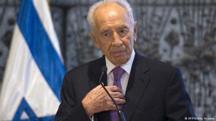 Israeli President Shimon Peres arrives at a press conference for Arab media, at his residence in Jerusalem on July 18, 2012, to deliver a message for Muslims around the world who will begin observing Ramadan, the holy month of fasting, which is set to begin the 19th or 20th, depending on the sighting of the moon. AFP PHOTO/MENAHEM KAHANA (Photo credit should read MENAHEM KAHANA/AFP/GettyImages)