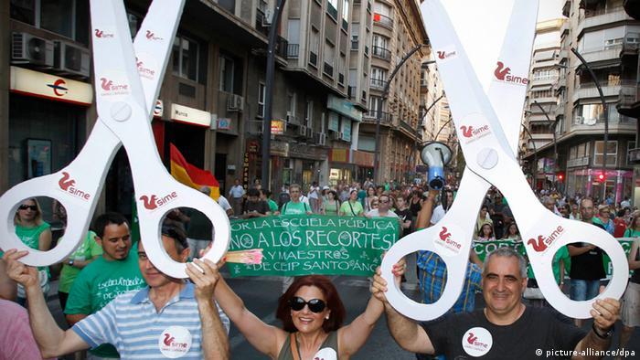 Очередь на бирже труда в Испании