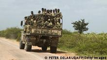 Somalia Äthiopien äthiopische Soldaten auf dem Weg zu Mogadishu