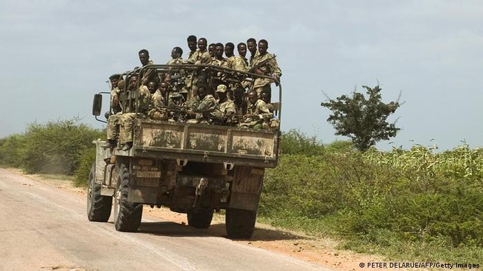 Somalia Äthiopien äthiopische Soldaten auf dem Weg zu Mogadishu (PETER DELARUE/AFP/Getty Images)