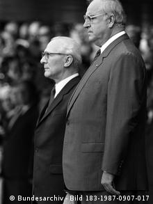 Honecker (l.) i Helmut Kohl 1987. u Bonnu