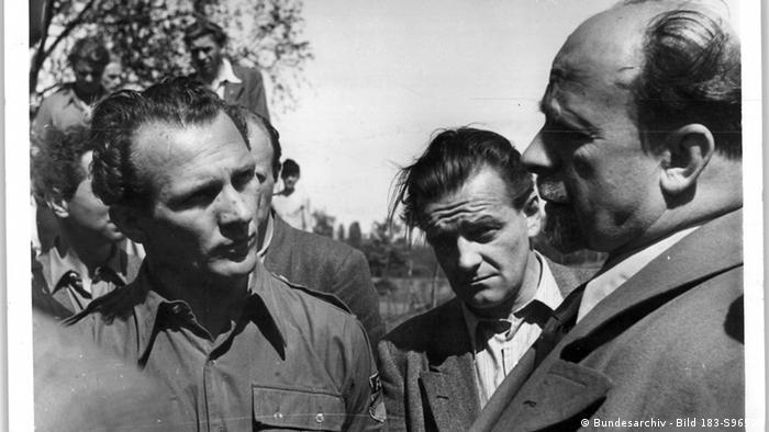 Erich Honecker mit Walter Ulbricht 1950