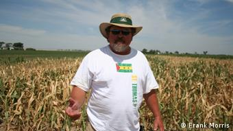 Dale Mauch on his farm near Lamar, Colorado Who is the photographer: Frank Morris July 17, 2012