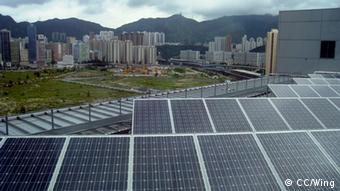 A solar farm on the outskirts of a town in China. (Photo:http://creativecommons.org/licenses/by-sa/3.0/deed.en +++CC/Wing+++)