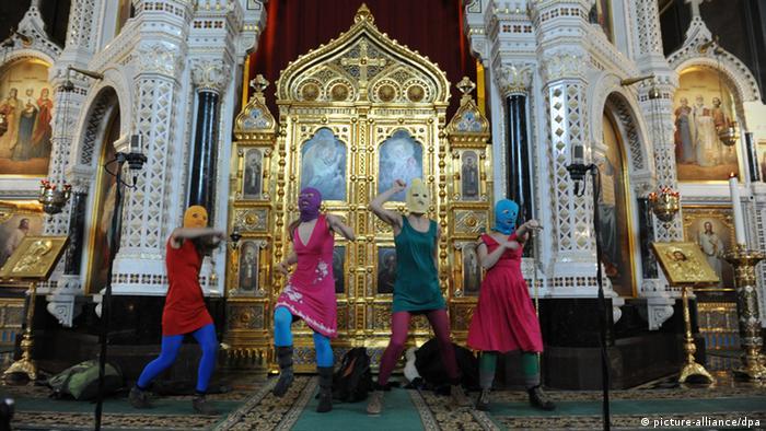 Pussy Riot u moskovskoj crkvi