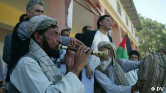 Musicians and artists stage a demonstration against extremism; Photo: DW/Hooshang Hashemie