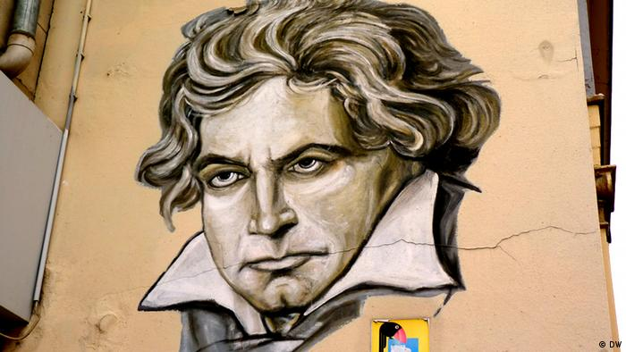 Beethoven as graffiti (Photo: DW).