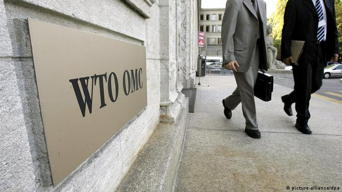 WTO placard at headquarters