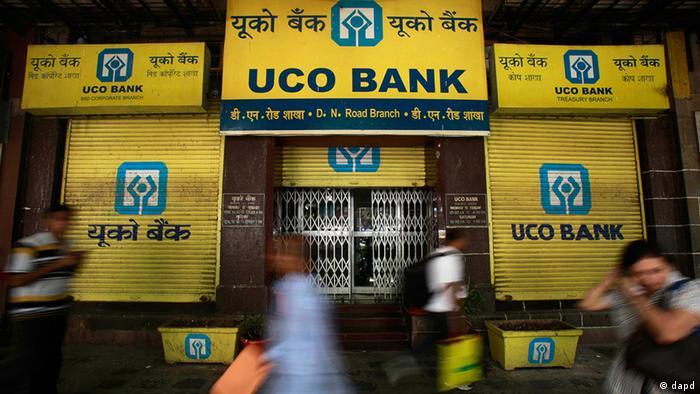 Indien Wirtschaft Streik der Bankangestellten (dapd)