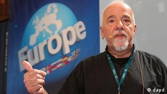Paulo Coelho is pictured speaking at a 2012 technology festival in Berlin Coelho (dapd)