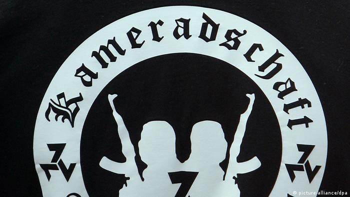 Symbol of Neonazi comdradeship displayed on member's t-shirt