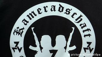 Right-wing extremist symbols on a black t-shirt