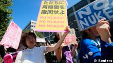 Protest Anti-Atomkraft-Aktivisten in Japan