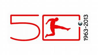 A logo for 50 years of the Bundesliga