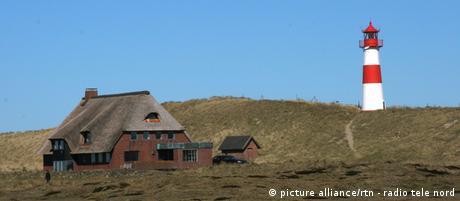 Ostern 2012 auf der Nordseeinsel Sylt - Ostersamstag - Blick den Leuchtturm am Ellenbogen