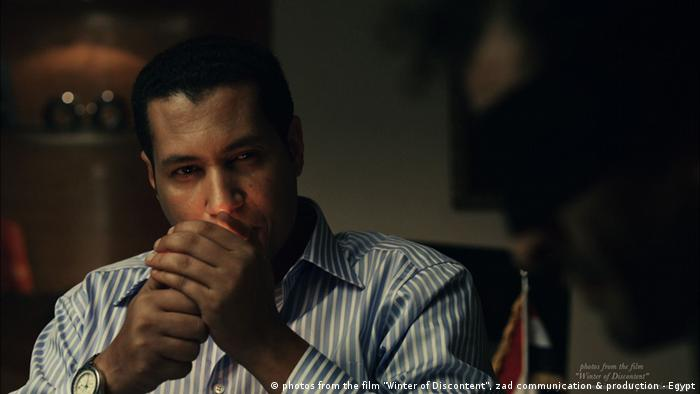 A scene from the film from Ibrahim Batout, Winter of Discontent, starring Amr Waked, Salah al Hanafy and Farah Youssef, which was created during the revolution in Egypt.