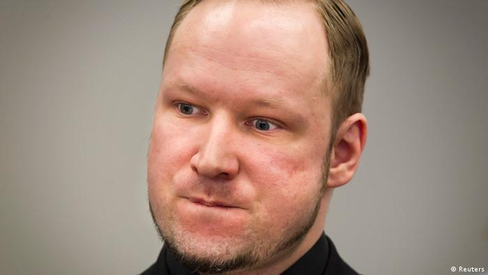 Defendant Anders Behring Breivik, who is expected to give his account of events on the July 22, 2011 attacks at Utoeya island, is pictured in court on the fifth day of his trial in Oslo in this April 20, 2012 file photograph. As the trial of Breivik comes to an end, Norway is just starting to shape its future as a nation no longer isolated by its great wealth from a troubled outside world. Survivors of Breivik's massacre are waiting for August 24, 2012 when an Oslo court passes judgment on the anti-Muslim gunman, hoping to return to something like the lives they led before he slaughtered 77 people last year. REUTERS/Heiko Junge/Scanpix/Pool/Files (NORWAY - Tags: CRIME LAW POLITICS PROFILE)